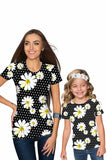 He Loves Me Zoe Black Floral Print Designer Tee - Women - Pineapple Clothing