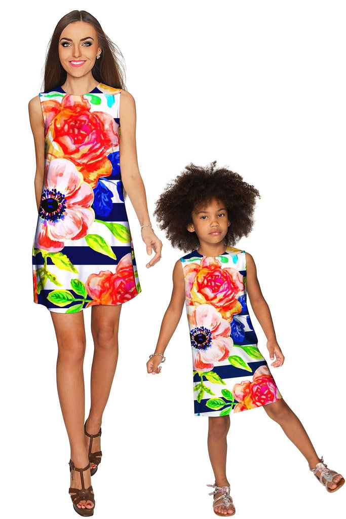 Hey-Sailor! Adele Shift Floral Mommy and Me Dress - Pineapple Clothing