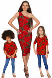Hot Tango Layla One-Shoulder Red Party Knit Dress - Women - Pineapple Clothing