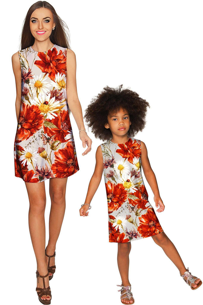In The Wheat Field Adele Shift Floral Mommy and Me Dresses - Pineapple Clothing