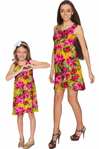 5bebc2f733a Indian Summer Sanibel Empire Waist Floral Mommy and Me Dresses - Pineapple  Clothing
