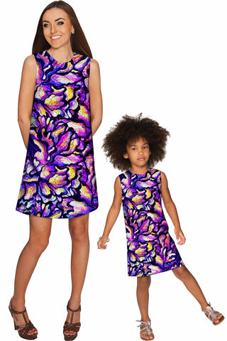 Make a Wish Adele Shift Party Mother and Daughter Dress - Pineapple Clothing