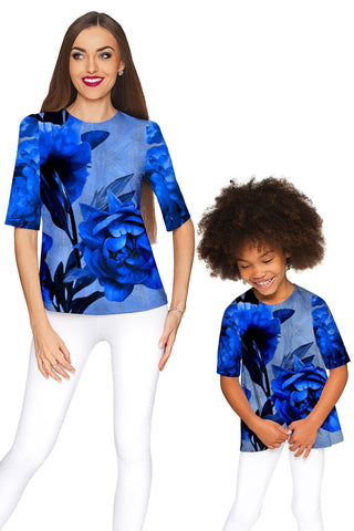 Mystery Sophia Elbow Sleeve Dressy Top - Mommy & Me - Pineapple Clothing
