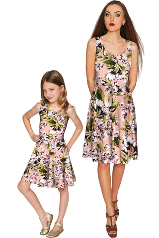 Ooh Darling Mia Fit & Flare Skater Mother and Daughter Dress - Pineapple Clothing