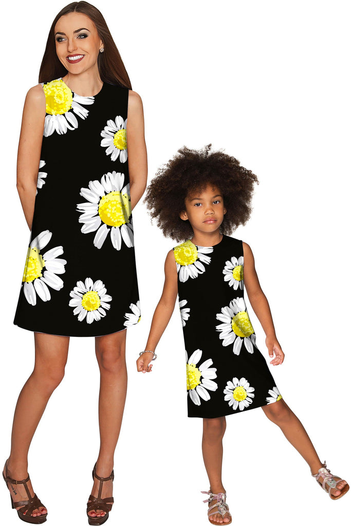 Oopsy Daisy Adele Floral Black Party Shift Dress - Women - Pineapple Clothing