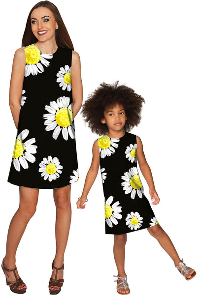 Oopsy Daisy Adele Black Cute Fancy Shift Dress - Girls