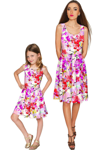 Orchid Caprice Mia Fit & Flare Skater Mommy and Me Dress - Pineapple Clothing