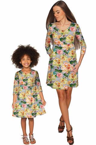 Prima Donna Gloria Empire Waist Mother and Daughter Dresses - Pineapple Clothing