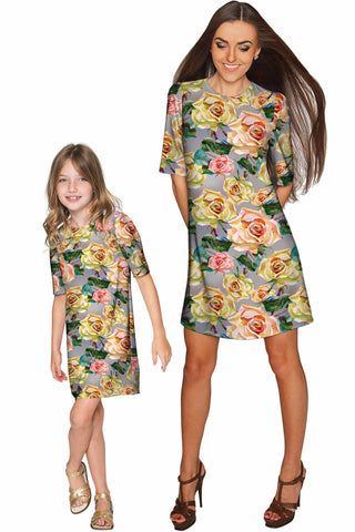 Prima Donna Grace Shift Floral Mother Daughter Dress - Pineapple Clothing