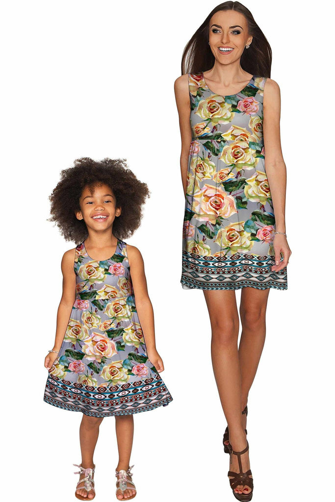Prima Donna Sanibel Empire Waist Floral Mother and Daughter Dresses - Pineapple Clothing