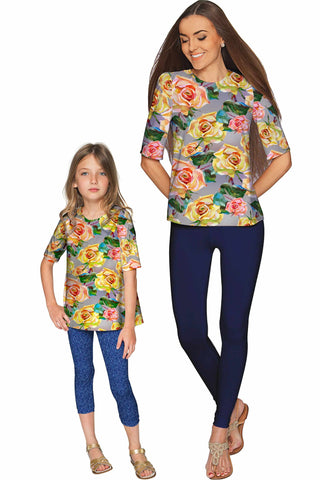 Prima Donna Sophia Elbow Sleeve Dressy Top - Mommy & Me - Pineapple Clothing