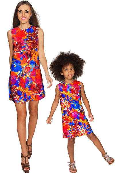 Summer Dizziness Adele Fashion Printed Shift Dress - Girls