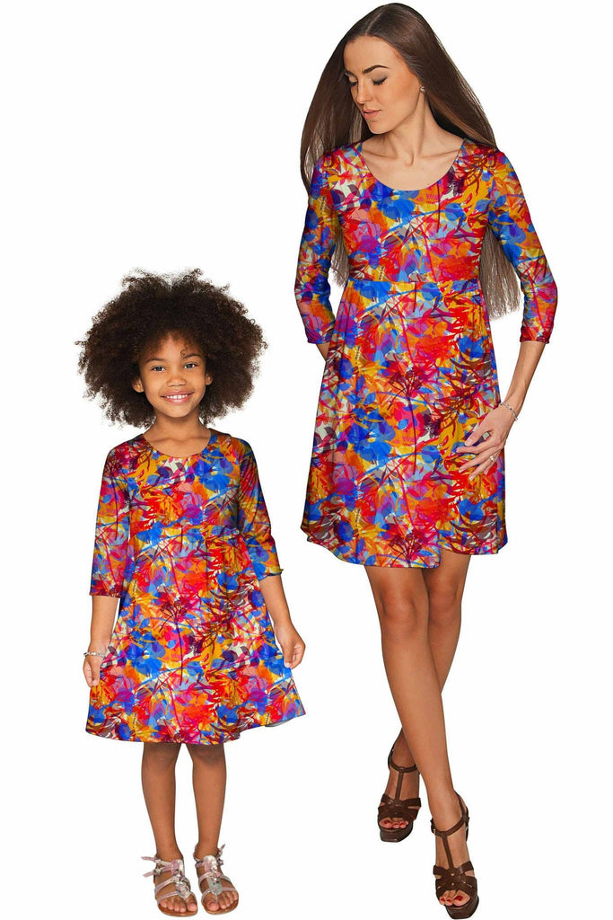 Summer Dizziness Gloria Empire Waist Mommy and Me Dresses - Pineapple Clothing