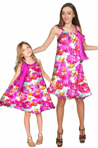 Sweet Illusion Melody Swing Chiffon Mother and Daughter Dress - Pineapple Clothing