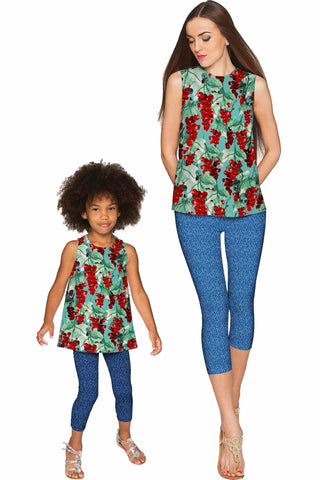 Toscana Emily Sleeveless Party Top - Mommy & Me - Pineapple Clothing