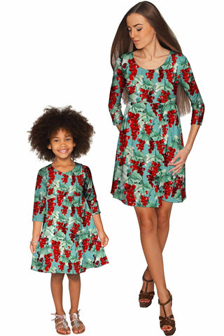 Toscana Gloria Empire Waist Mother Daughter Dress - Pineapple Clothing