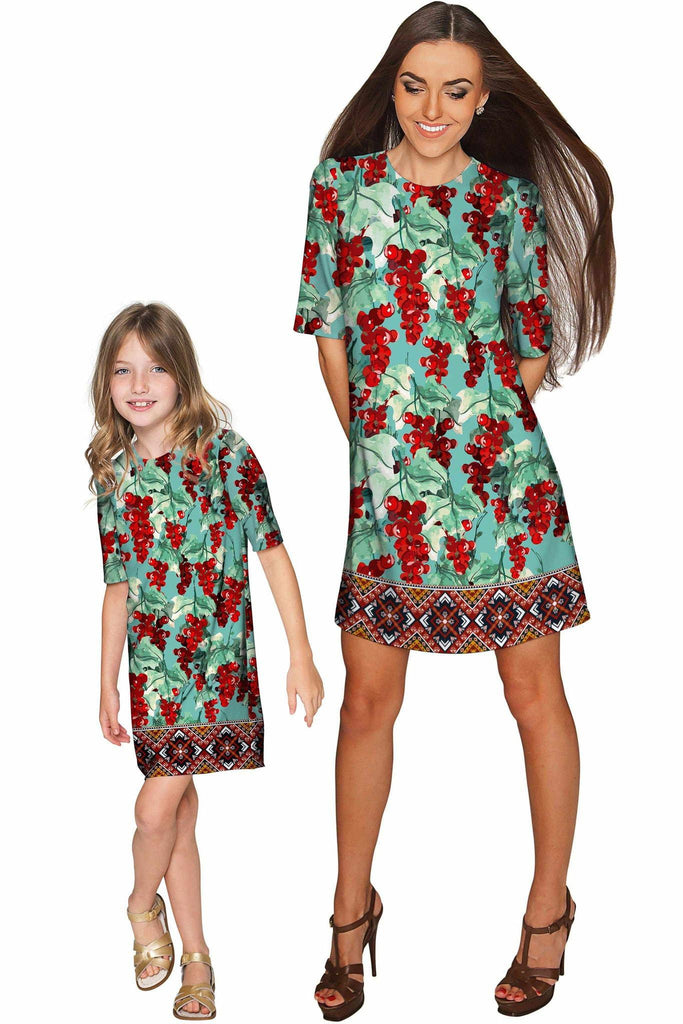 Toscana Grace Shift Floral Mommy and Me Dress - Pineapple Clothing