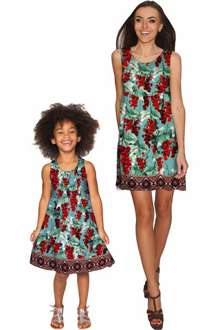 Toscana Sanibel Empire Waist Floral Mommy and Me Dress - Pineapple Clothing