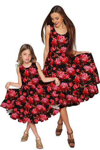 True Passion Vizcaya Fit & Flare Midi Mother Daughter Dress - Pineapple Clothing