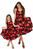 True Passion Vizcaya Black & Red Floral Party Dress - Women - Pineapple Clothing