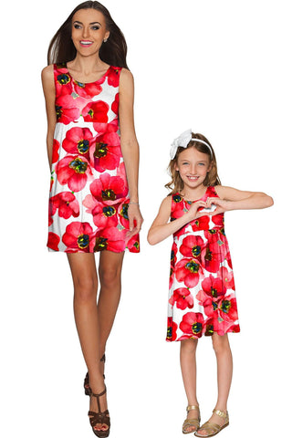 Tulip Salsa Sanibel Empire Waist Floral Mommy and Me Dresses - Pineapple Clothing