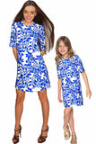 Whimsy Grace Shift Floral Mother Daughter Dress - Pineapple Clothing