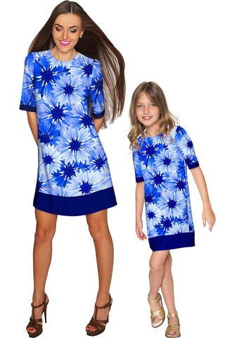 Wild Bloom Grace Shift Floral Mommy and Me Dress - Pineapple Clothing