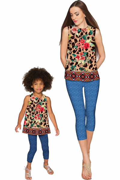 Wild & Free Emily Sleeveless Party Top - Mommy & Me - Pineapple Clothing
