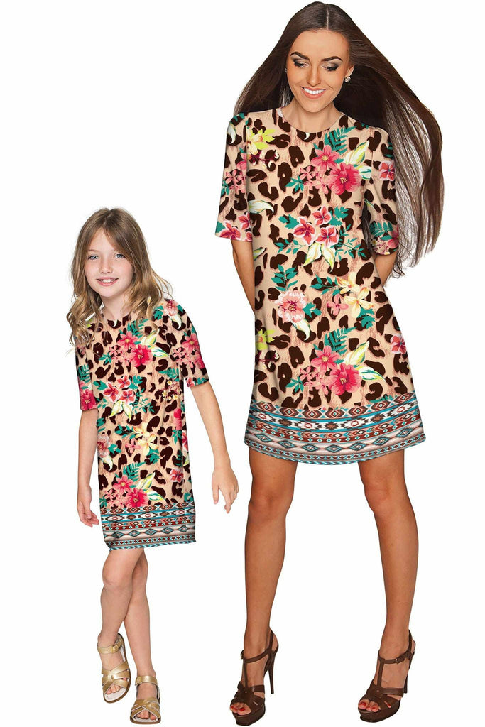 Wild & Free Grace Shift Floral Mother and Daughter Dresses - Pineapple Clothing