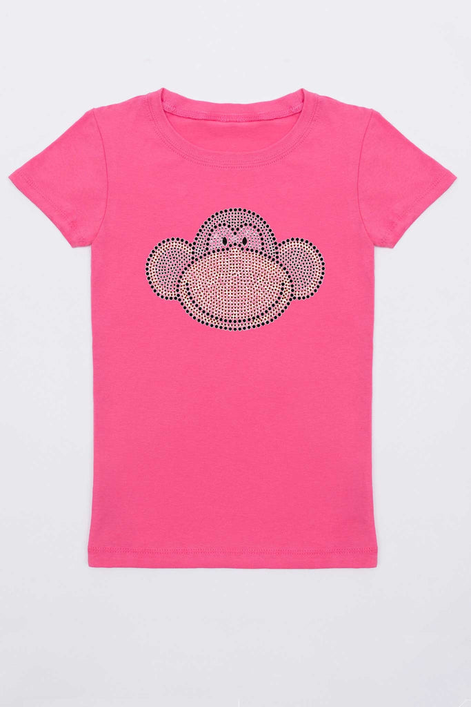 Monkey Face Tee - Girls - Pineapple Clothing