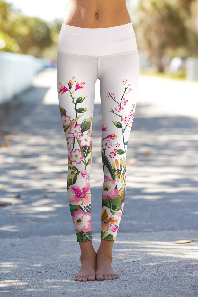 Mountain Garden Lucy Floral Performance Leggings - Women - Pineapple Clothing