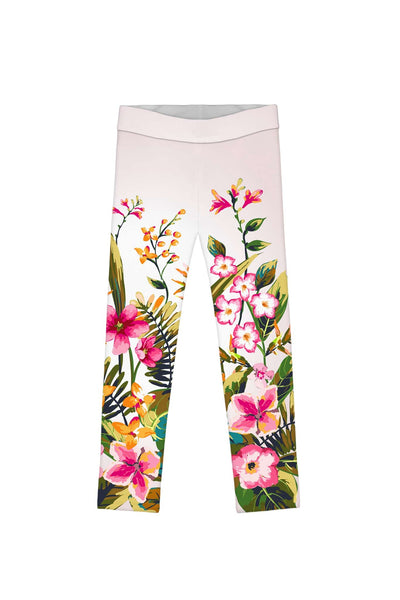 Mountain Garden Lucy Cute Floral Printed Leggings - Girls