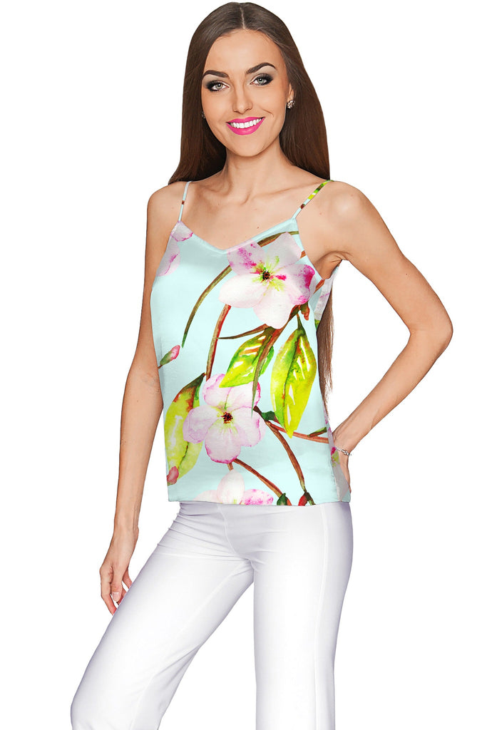 Muse Ella V-Neck Stretchy Camisole - Women - Pineapple Clothing