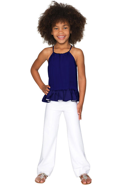 Mystic Indigo Audrey Halter Top - Girls
