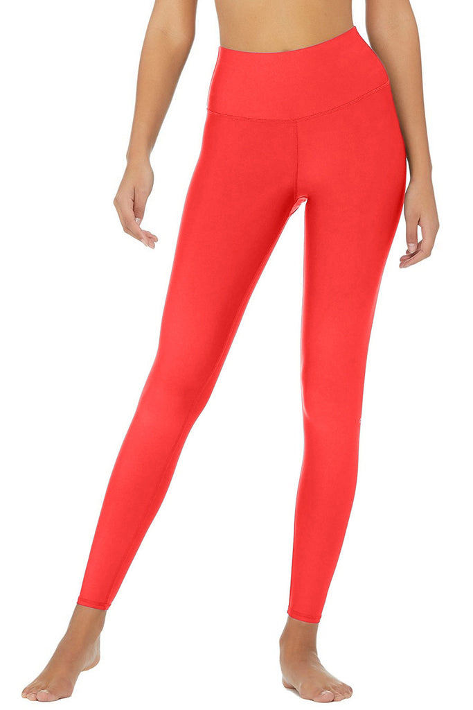 Neon Coral Uv 50 Lucy Bright Recyclable Leggings Yoga Pants Women Pineapple Clothing
