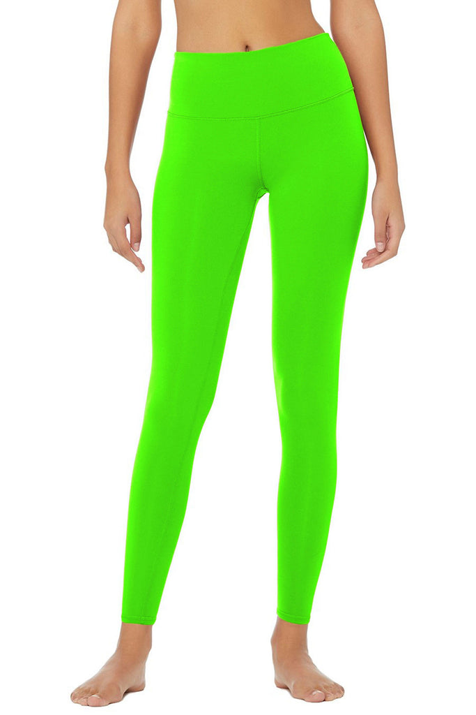 Neon Green Uv 50 Lime Lucy Recyclable Leggings Yoga Pants Women Pineapple Clothing