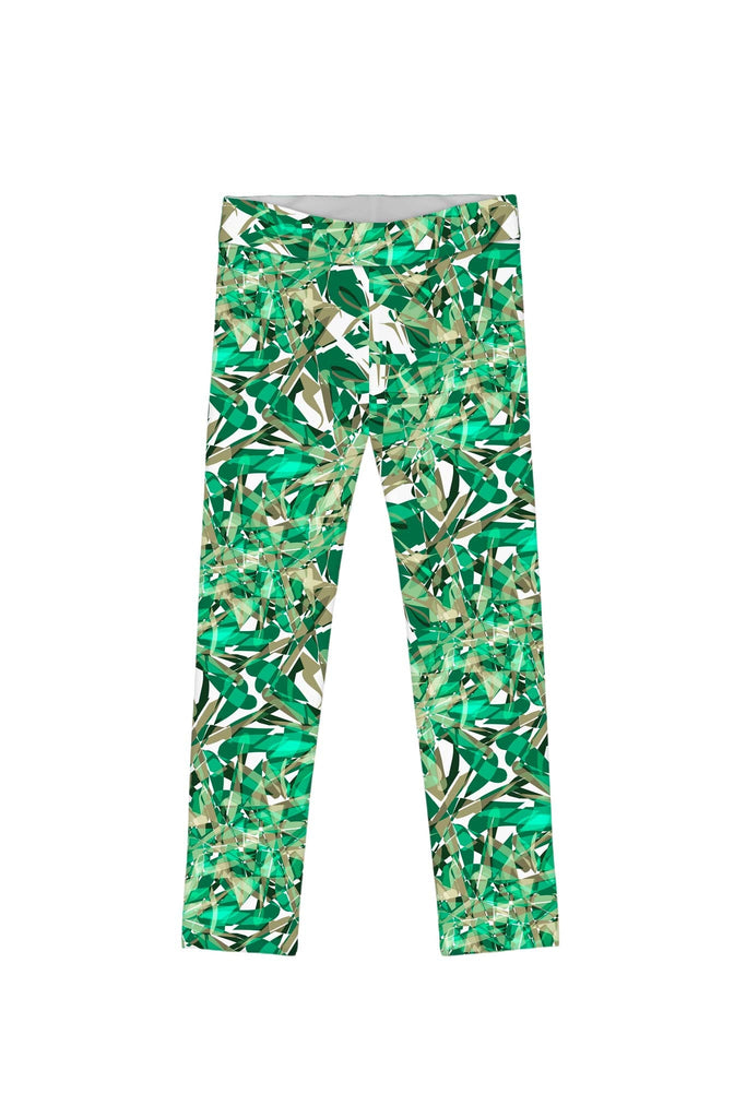 Nephrite Fantasy Lucy Cute Green Printed Leggings - Girls - Pineapple Clothing