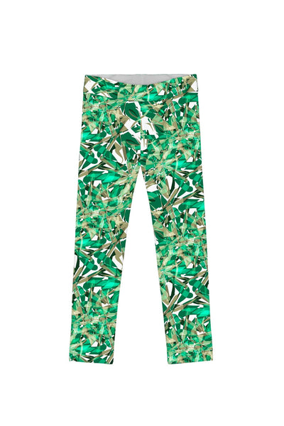 Nephrite Fantasy Lucy Cute Green Printed Leggings - Girls