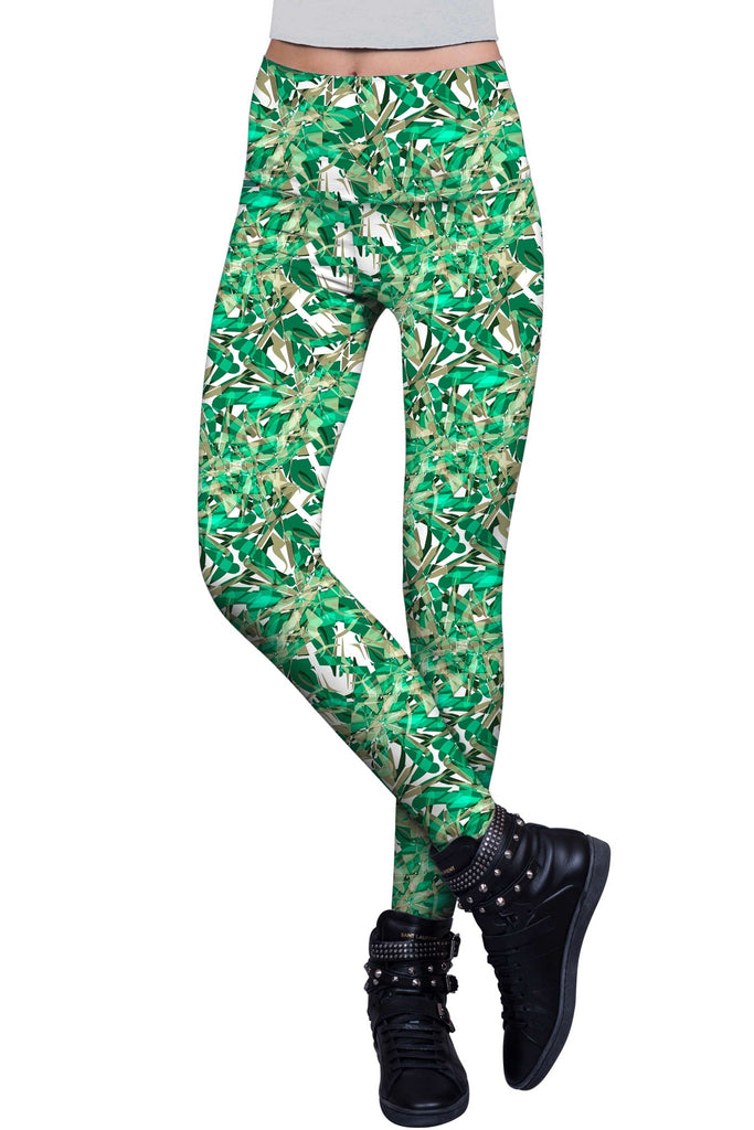 Nephrite Fantasy Lucy Printed Performance Leggings - Women - Pineapple Clothing