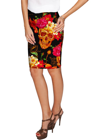 No Doubt Carol Black Printed Stretch Pencil Skirt - Women - Pineapple Clothing