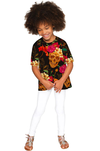 No Doubt Sophia Black Printed Sassy Sleeved Top - Girls - Pineapple Clothing