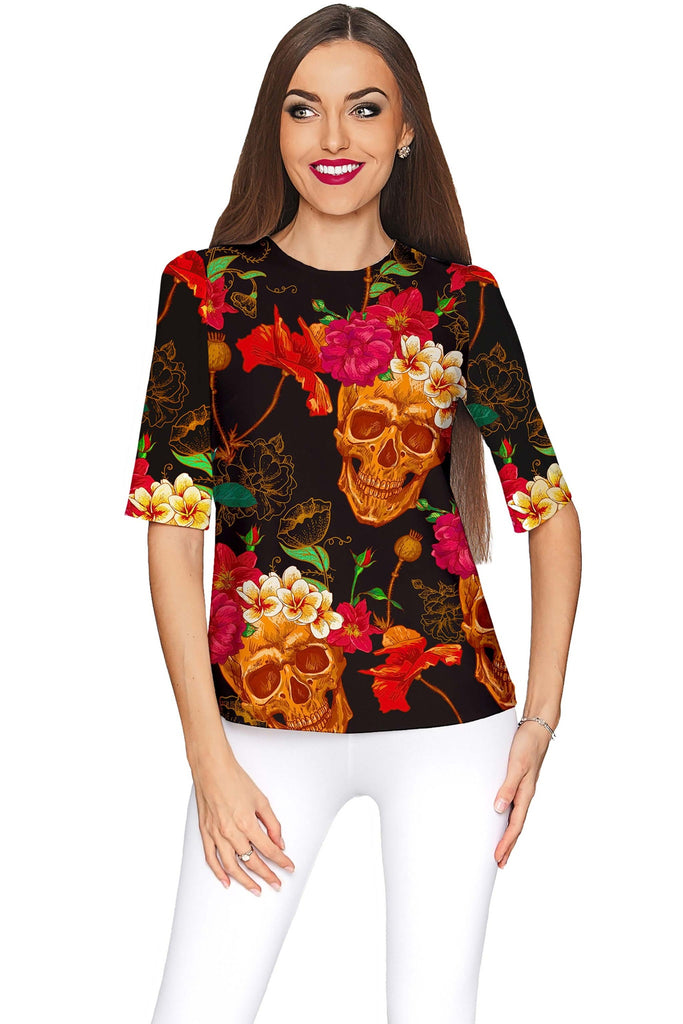 No Doubt Sophia Black Evening Sleeved Catchy Top - Women - Pineapple Clothing
