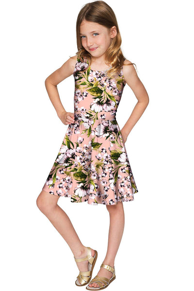 Ooh Darling Mia Floral Skater Party Dress - Girls