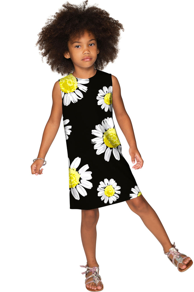 Oopsy Daisy Adele Black Cute Fancy Shift Dress - Girls - Pineapple Clothing