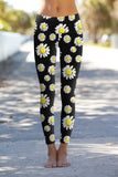 Oopsy Daisy Lucy Black Floral Performance Leggings - Women - Pineapple Clothing