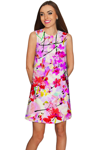 Orchid Caprice Adele Pretty Pink Floral Shift Dress - Women