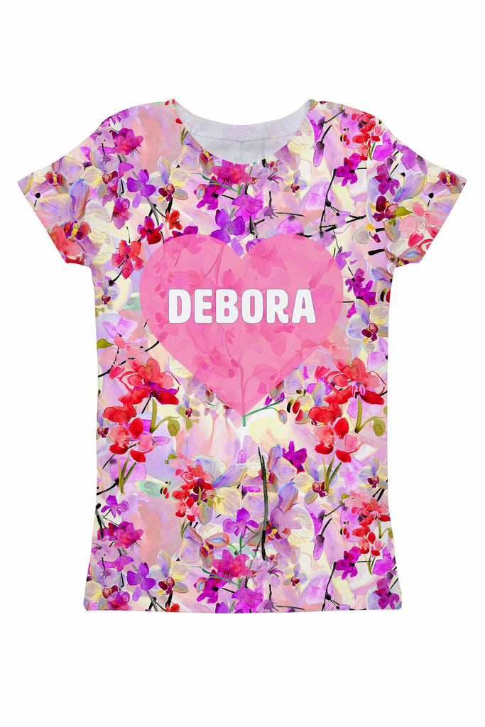 Orchid Caprice Customized NAME Zoe Pink T-Shirt - Women - Pineapple Clothing