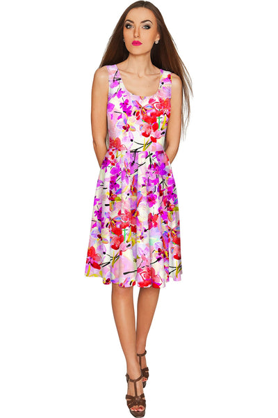 Orchid Caprice Mia Fit & Flare Pink Floral Dress - Women