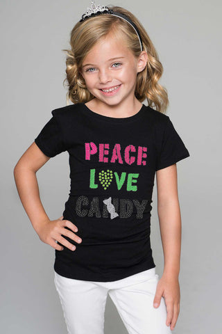 PEACE LOVE CANDY Tee - Girls - Pineapple Clothing