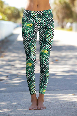 Palm Beach Lucy Printed Performance Yoga Leggings - Women - Pineapple Clothing